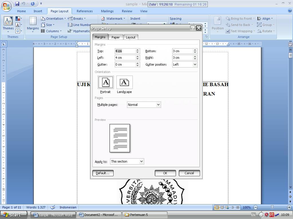 Cara Membuat Dan Mengatur Posisi Nomor Halaman Di Word 2007
